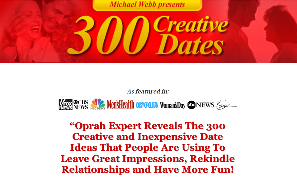 HONEST REVIEW 300 Creative Dates By Oprah Dating And Relationship Expert.